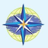 指南针星形 向量例证