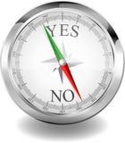 指南针是或否 向量例证