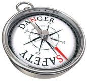 指南针概念性危险安全性与 向量例证