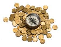 指南针管理货币退休金 免版税库存图片