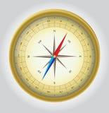 指南针金子向量 免版税图库摄影