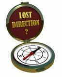 指南针-失去的方向? 免版税库存照片