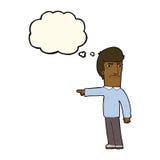 指向与想法泡影的动画片恼怒的人.图片