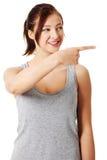 指向事的女孩青少年的年轻人 库存照片