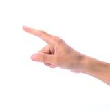 指向人的手接触和 免版税库存照片