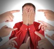 指向以责备羞辱的手指 免版税图库摄影