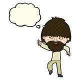 指向和笑与想法泡影的动画片有胡子的人.图片
