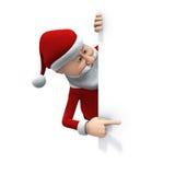 指向圣诞老人 库存图片