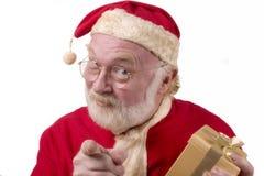 指向圣诞老人 免版税库存照片