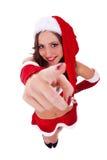 指向性感的圣诞老人您 库存图片