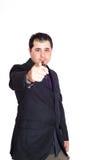 指向您的商人 免版税库存照片