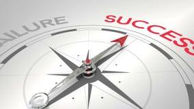 指向成功的指南针 向量例证