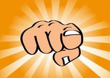指向手指的手 免版税图库摄影