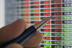 指向报价股票 库存照片