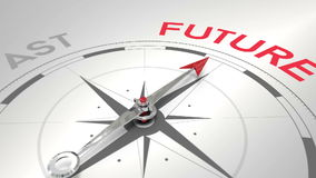 指向未来的指南针 库存例证