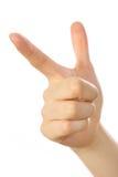 指向标志的手 免版税库存图片