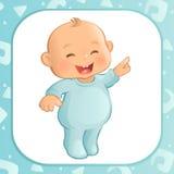 指向男婴(传染媒介) 免版税库存照片