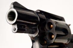 38指向的口径左轮手枪手枪被装载的圆筒枪管 免版税图库摄影