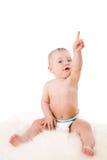 指向的婴孩  免版税库存照片