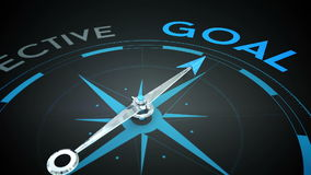 Compass pointing to goal Stock Footage