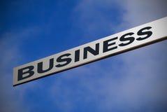 指向符号的商业 免版税库存图片