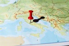 指向罗马的Pin 库存图片