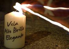指向蜡烛 库存图片