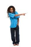 指向rasta年轻人的孩子 免版税图库摄影
