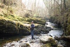 指引brecon河 库存图片