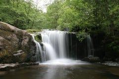 指引brecon瀑布 库存照片