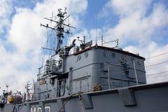 指挥一艘军用船的` s客舱 库存照片