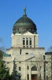 指明蒙大拿的国会大厦 免版税图库摄影