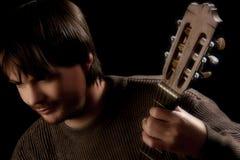 指板吉他吉他弹奏者 图库摄影