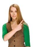 指点妇女年轻人 免版税图库摄影