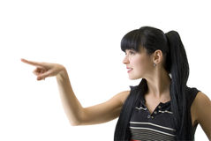 指点妇女 免版税图库摄影