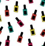 指甲油传染媒介五颜六色的样式 向量例证