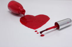 指甲油心脏 库存照片