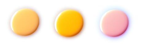 指甲油搪瓷投下样品 免版税库存图片