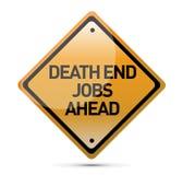指示工作符号的前面死角 免版税图库摄影