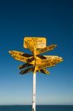 指示斯特灵点的路线 免版税库存图片