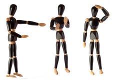 指示木偶终止的方向认为方式 图库摄影