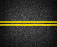 指示顶视图的柏油路 免版税库存图片