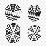 指纹传染媒介指纹商标线象 皇族释放例证