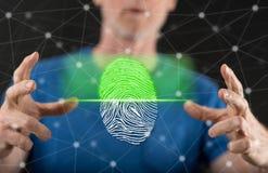 指纹保安系统的概念 库存照片