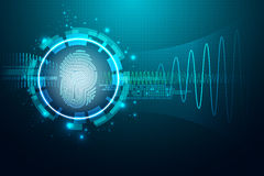 指纹信件P 保安系统概念 向量例证