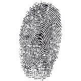 指纹向量 免版税库存照片