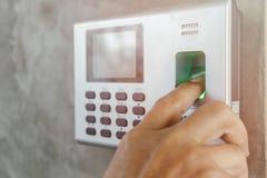 指纹和密码锁 库存图片