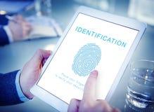 指纹密码生物测定学技术概念 免版税库存图片