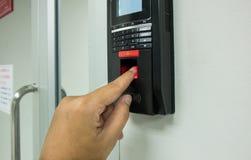 指纹扫描为进入保安系统 图库摄影