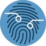 指纹扫描传感器 Thumprint扫描传感器 图库摄影